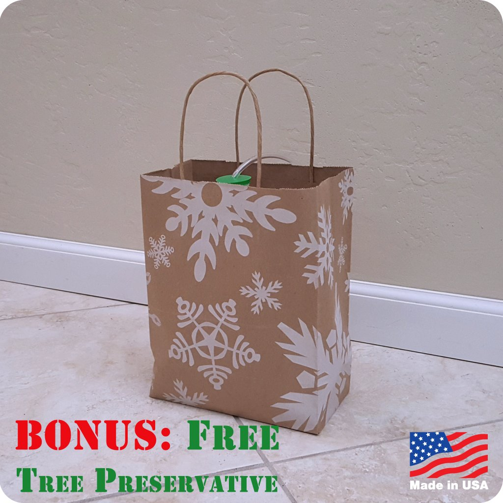 Made in USA Watering System Christmas Tree Waterer Santas Secret Gift Snowflake Flurry