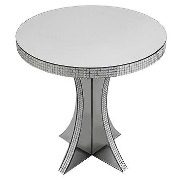 Chic Silber Verspiegelt Bling Rund Seite Ende Tisch Möbel Display
