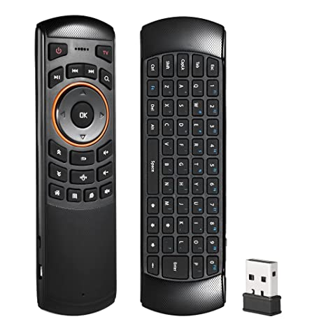 docooler aire ratón inalámbrico teclado QWERTY mini 2,4 gHz mando a distancia 6 gxes
