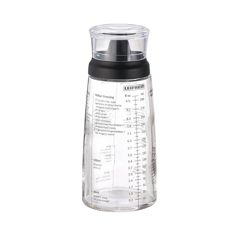 Leifheit Salad Dressing Shaker Bottle, Black 03195