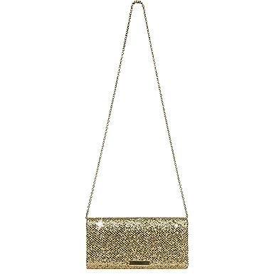 ad36cfe69e5b1 CASPAR TA342 Damen kleine elegante Glitzer Clutch Tasche Abendtasche ...