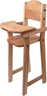 """product image for Camden Rose Cherry Wood Doll High Chair, Flat Pack, 30"""" Tall"""
