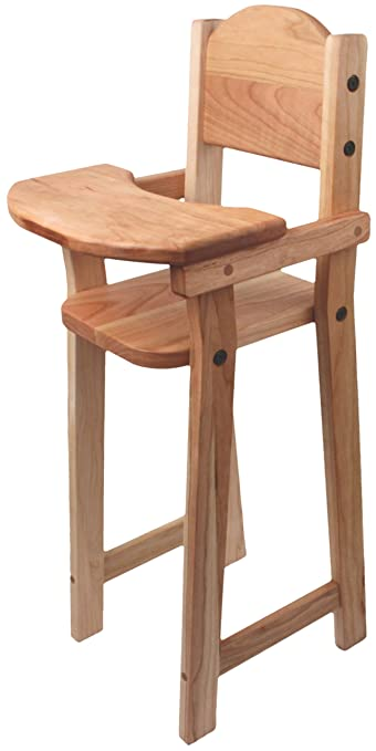 Camden Rose Cherry Wood Doll High Chair, Flat Pack, 30u0026quot; ...