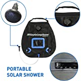 EasyGo Camp Shower – 5 Gallon Portable Shower - Solar Heated Camping Water Bag with Heavy Duty Handle and Buckle Clip for Easy Hanging - No Shower Pump Needed