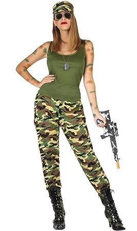 Disfraz de Militar Guerrillera para Mujer: Amazon.es ...