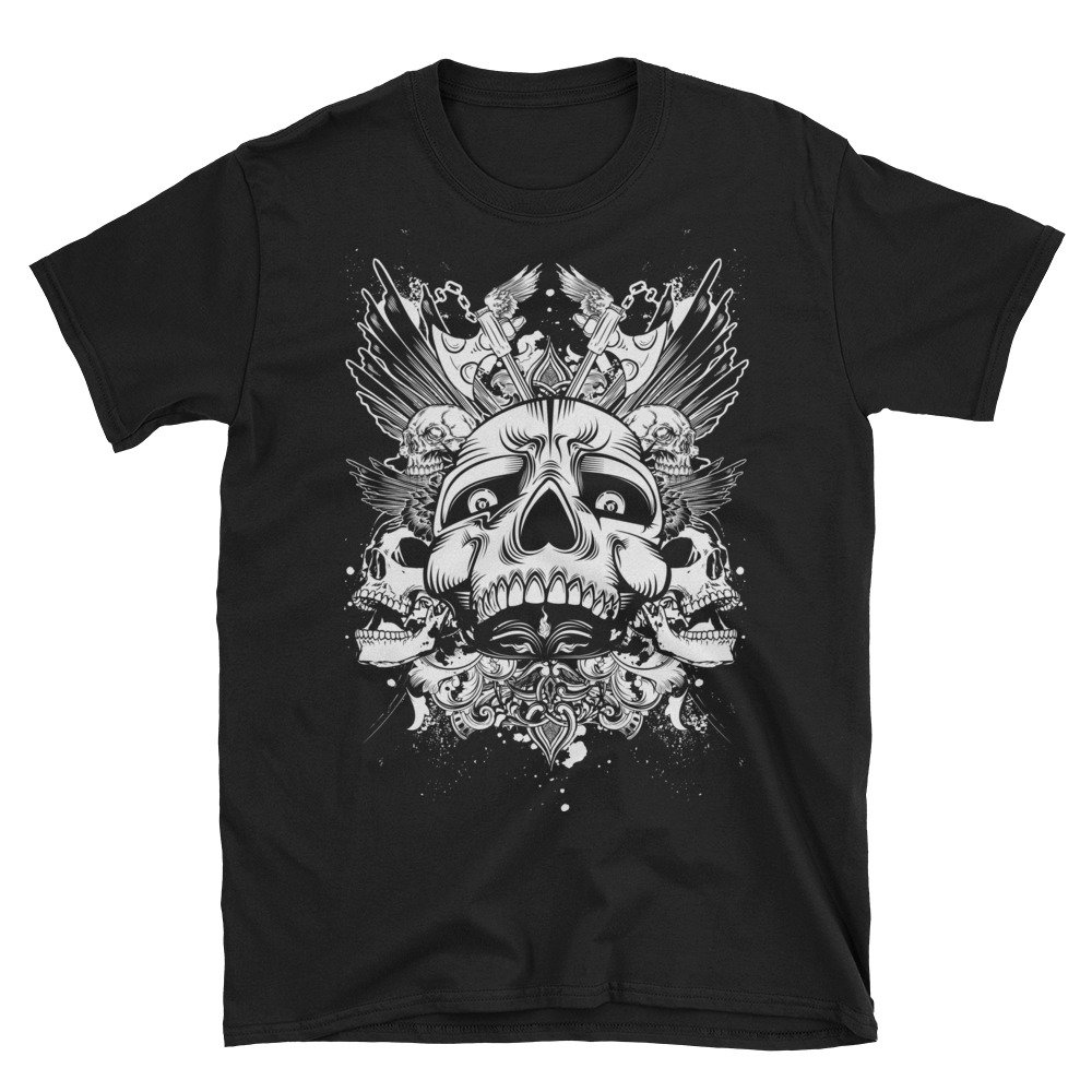 Arkansas Made Skulls and Axes Short-Sleeve Unisex T-Shirt
