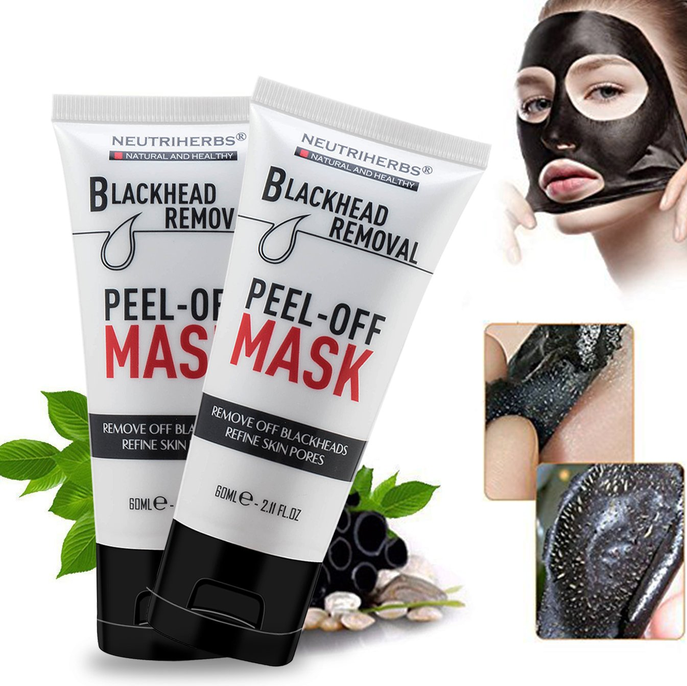 Blackhead Remover Mask & Black Face Mask-Deep Cleansing Purifying Face Peel Off Mask 60ml
