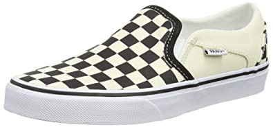 bf205014475580 Vans Women s Asher (Checkerboard) Black White Sneakers-8.5 UK India (