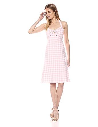 8ce4216858f BB Dakota Women s Annelise Gingham Halter Midi Dress at Amazon Women s  Clothing store