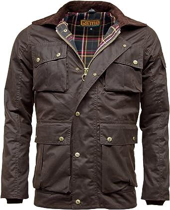 Chaqueta Game Utilitas de algodón encerado para hombre marrón marrón XX-Large: Amazon.es: Ropa y accesorios