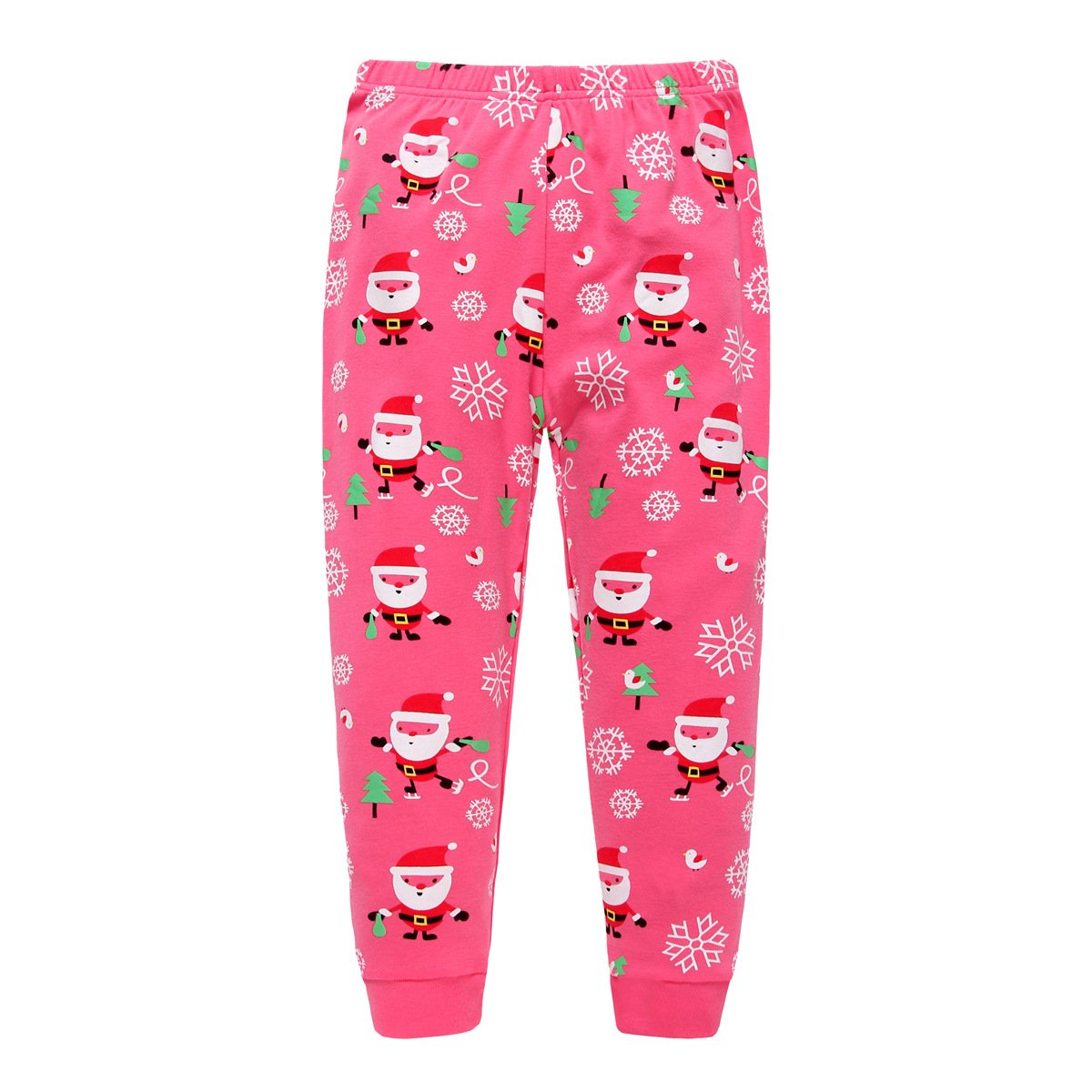 5491144cc Bebone Conjunto de Pijama Para Navidad Santa Claus Camiseta Manga Larga y Pantalones  Largas Para Niñas (Rosa
