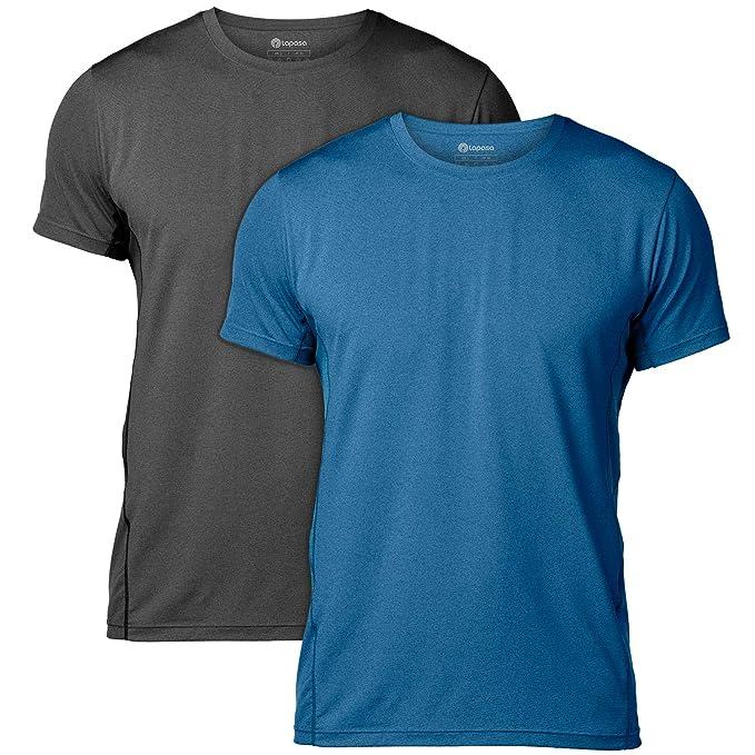 LAPASA T Shirt Uomo Magliette Sportive Performance Cupro – Tecnologia ANTIODORE T Shirt Allenamento Sport Running Palestra M15