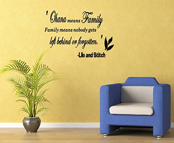 Amazon.com Ohana Means Family Vinyl Wall Art Sticker Decal Quote Saying Letters Removable Home u0026 Kitchen  sc 1 st  Amazon.com : ohana wall decal - www.pureclipart.com