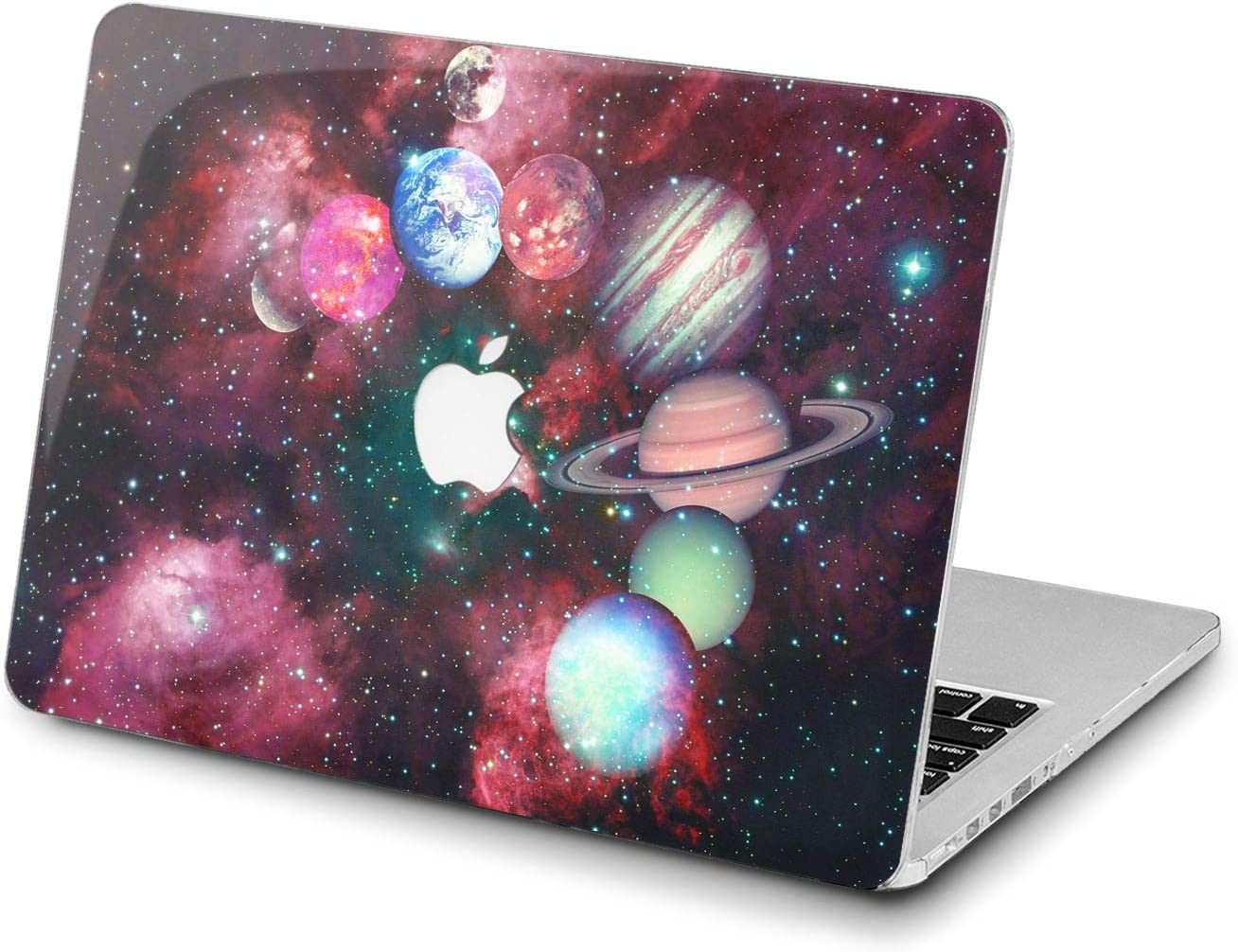 Lex Altern Hard Case for Apple MacBook Pro 15 Air 13 inch Mac Retina 12 11 2020 2019 2018 2017 2016 Red Plastic Print Laptop Planets Outer Space Galaxy Touch Bar Design Pattern Cover Stars Women