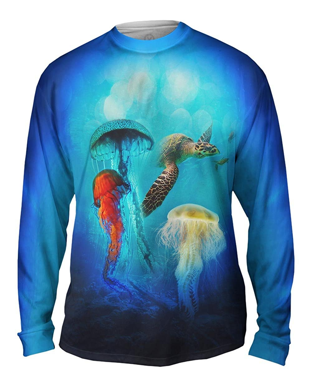Jellyfish Wreck Mens Long Sleeve Yizzam TShirt