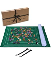 Inflatable Puzzle Roll UPTO 1500 Pcs - Puzzle Mat With Foldable Cloth - Stores in a TINY Space when Not Inflated - Jigsaw Puzzle Roll Up Board Tubes with Easy-Catch Fastening Baize Material