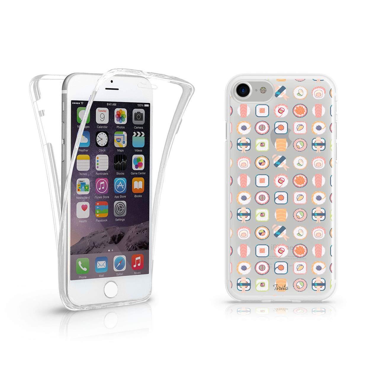 iPhone X Tiritaフル360保護クリアソフトジェル電話ケース寿司和食日本流行ファッションギフトプレゼント   B07GLFXDKQ