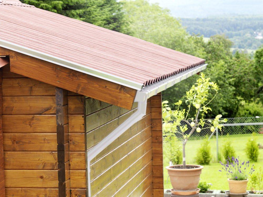 goutti/ère de toit blanc DN 50 INEFA Arc DN 50 45/° plastique gris anthracite 45/° goutti/ère de pluie