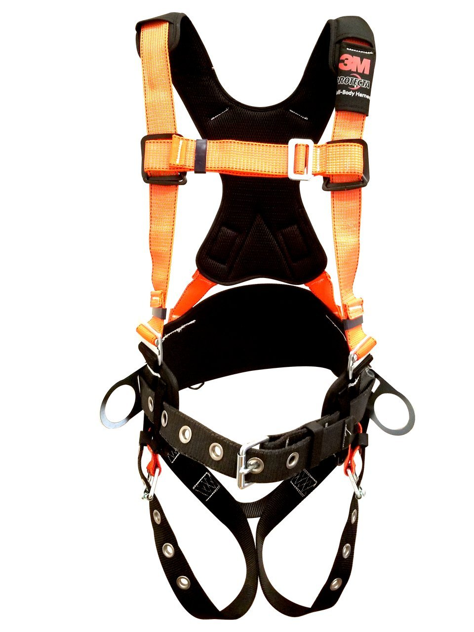 3M Protecta PRO Comfort Harness With Reflective Webbing and Reinforced Belt Size Medium/Large