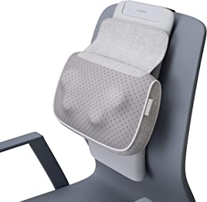 Shiatsu Neck and Back Massager Pillow - Kneading Massage with Heat, Deep Tissue Chair Massagers for Lower Back, Shoulders, Calf, Body, NAIPO oPillow Electric Massager with Cushion, Gifts for Men Women