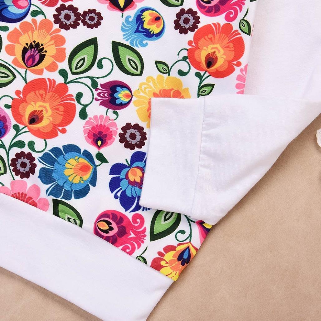 K-youth/® Ropa bebe ni/ña oto/ño invierno Infantil recien nacido Beb/é Ni/ña Impresi/ón de flores Tapas manga larga Camisetas blusas Pantalones largos Conjuntos de ropa