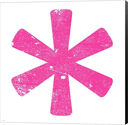 Amazon com: Pink Asterisk by Veruca Salt Canvas Art Wall Picture