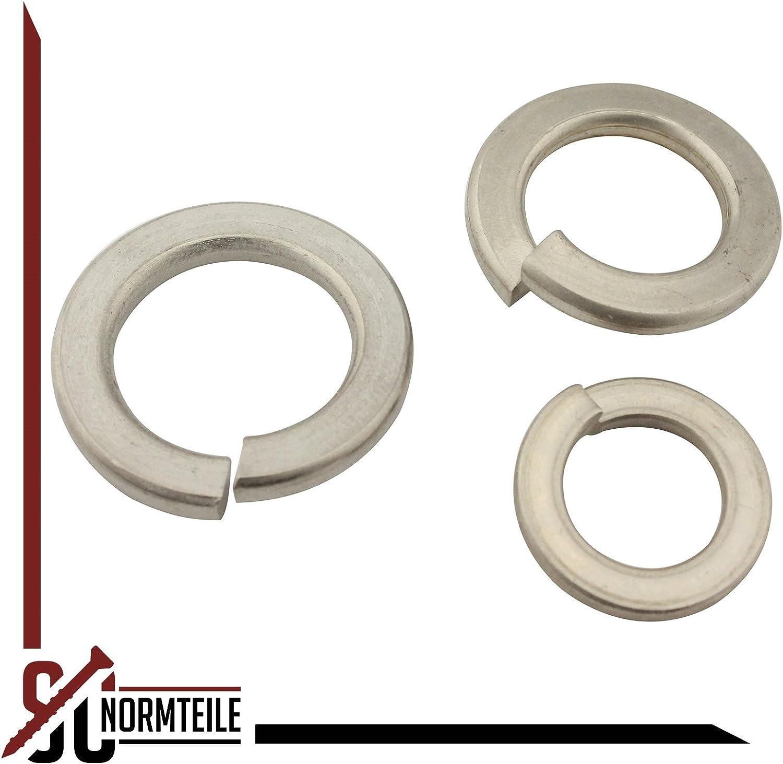 SC-Normteile 5 St/ück Federringe | Sprengringe aus rostfreiem Edelstahl A2 V2A | M2 | SC127 glatt DIN 127 Form B Sperringe