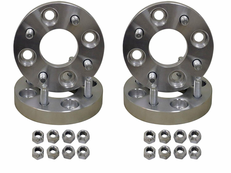 SuperATV 1 Aluminum Heavy Duty Wheel Adapters for Kawasaki 4//137 OE to 4//110 Pattern 4 total