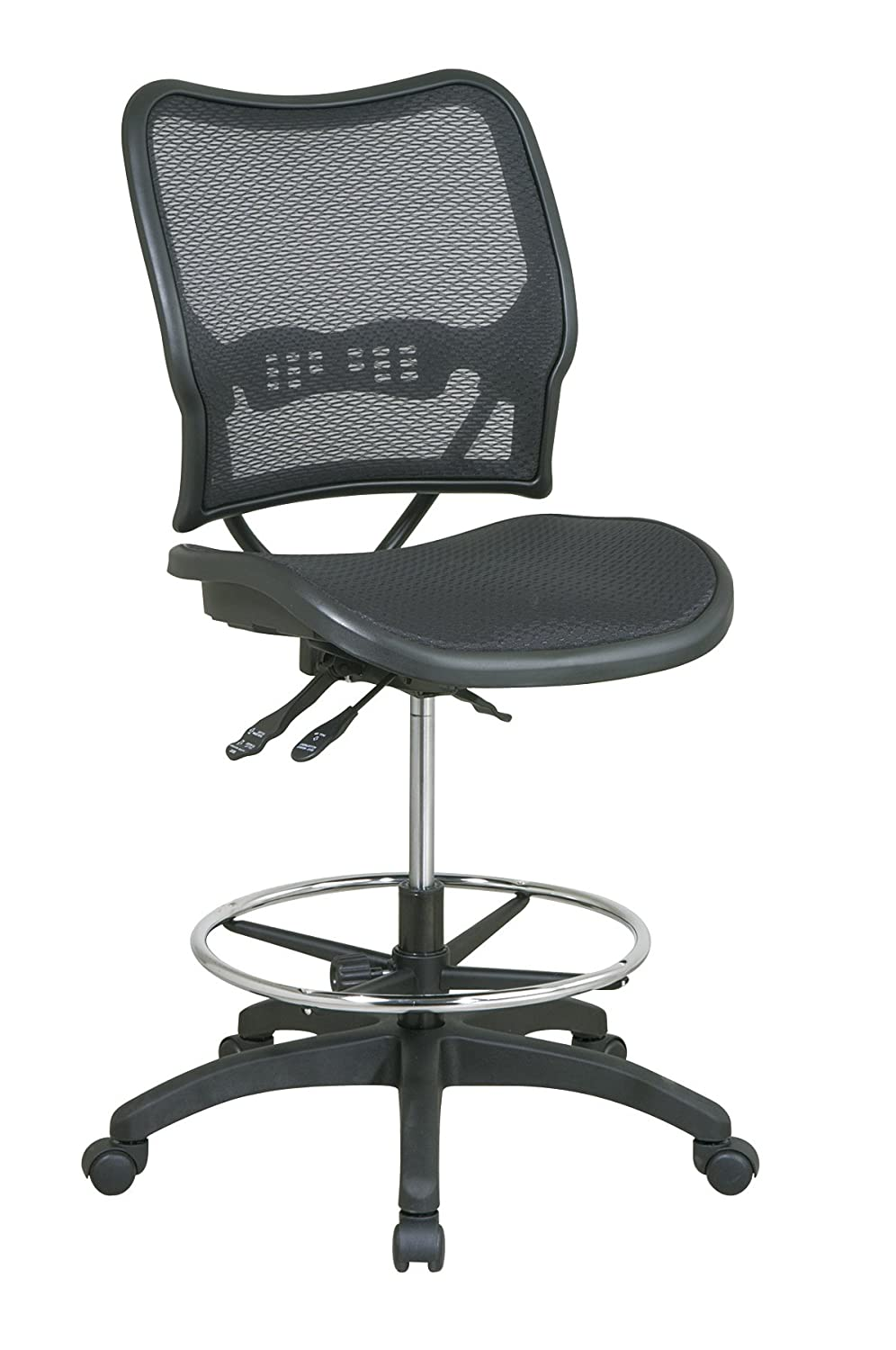 amazon com deluxe drafting chair with air grid seat and back