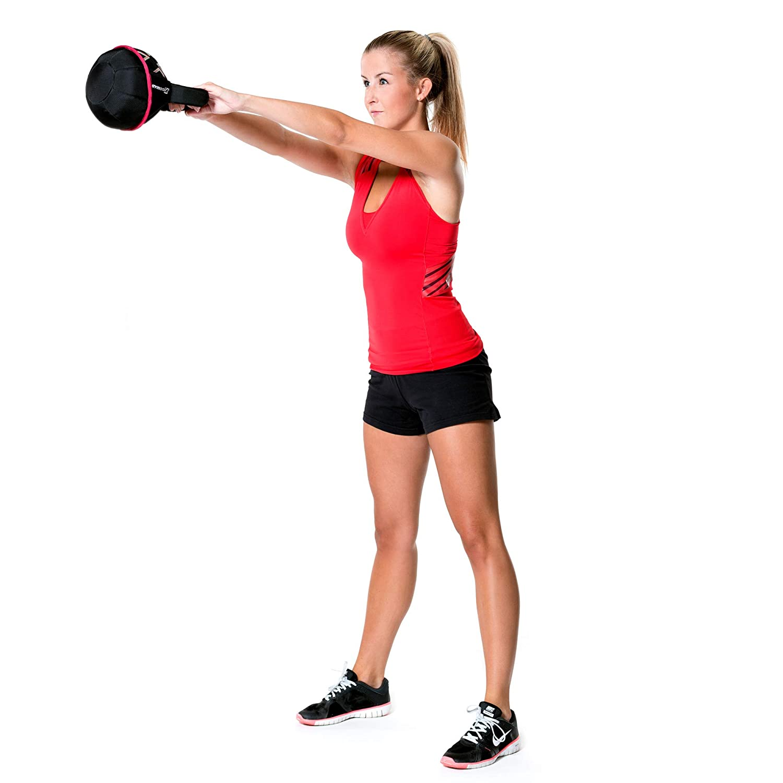 Gymbox® Bolsa de Arena/Pesas Rusas/Kettlebell/Fitness Bag/Power Bag | entrenamiento muscular/funcional/de pesas libres | está llenado con arena | negro, ...