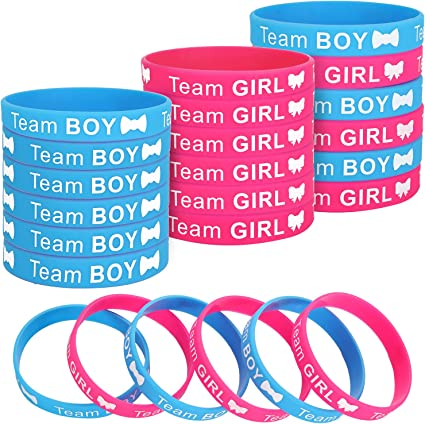 Blue /& Yellow Baby shower wristbands//bracelets guest party favours Pink