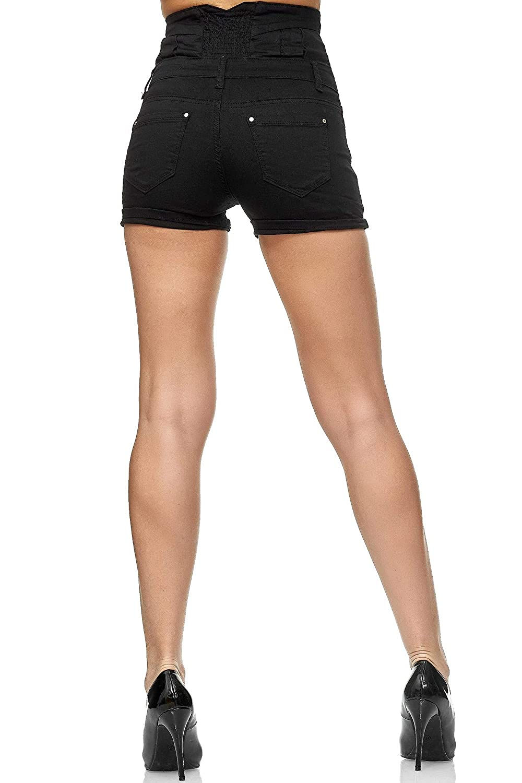 Slim Fit Efecto Push up Elara Pantalones Cortos de Mujer Shorts de Cintura Alta Chunkyrayan