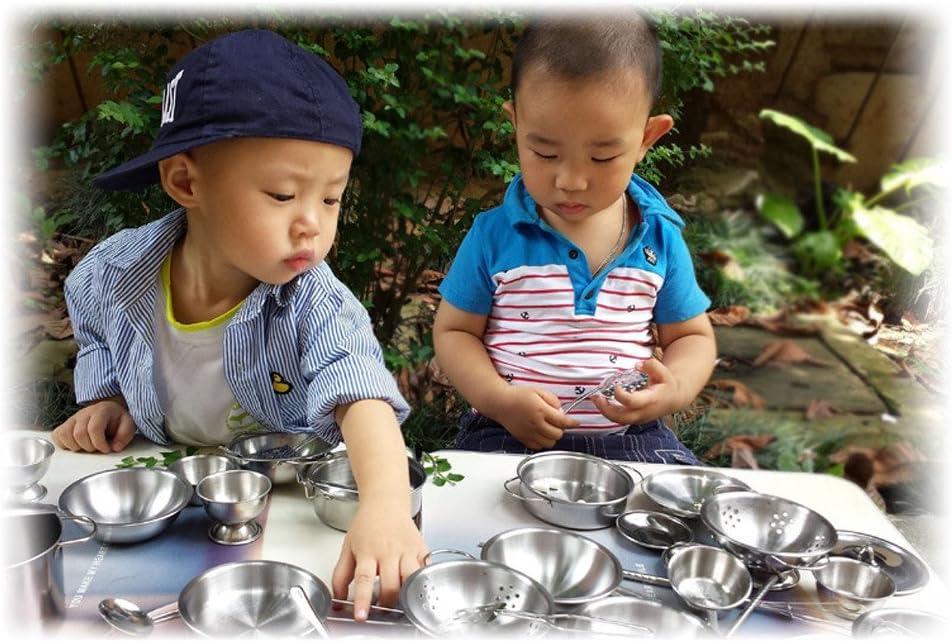 LUCOG 16 pi/èces Ensemble Enfants Jouer Maison Cuisine Jouets ustensiles de Cuisine ustensiles de Cuisine casseroles Cadeau Jouets et Loisirs /éducation