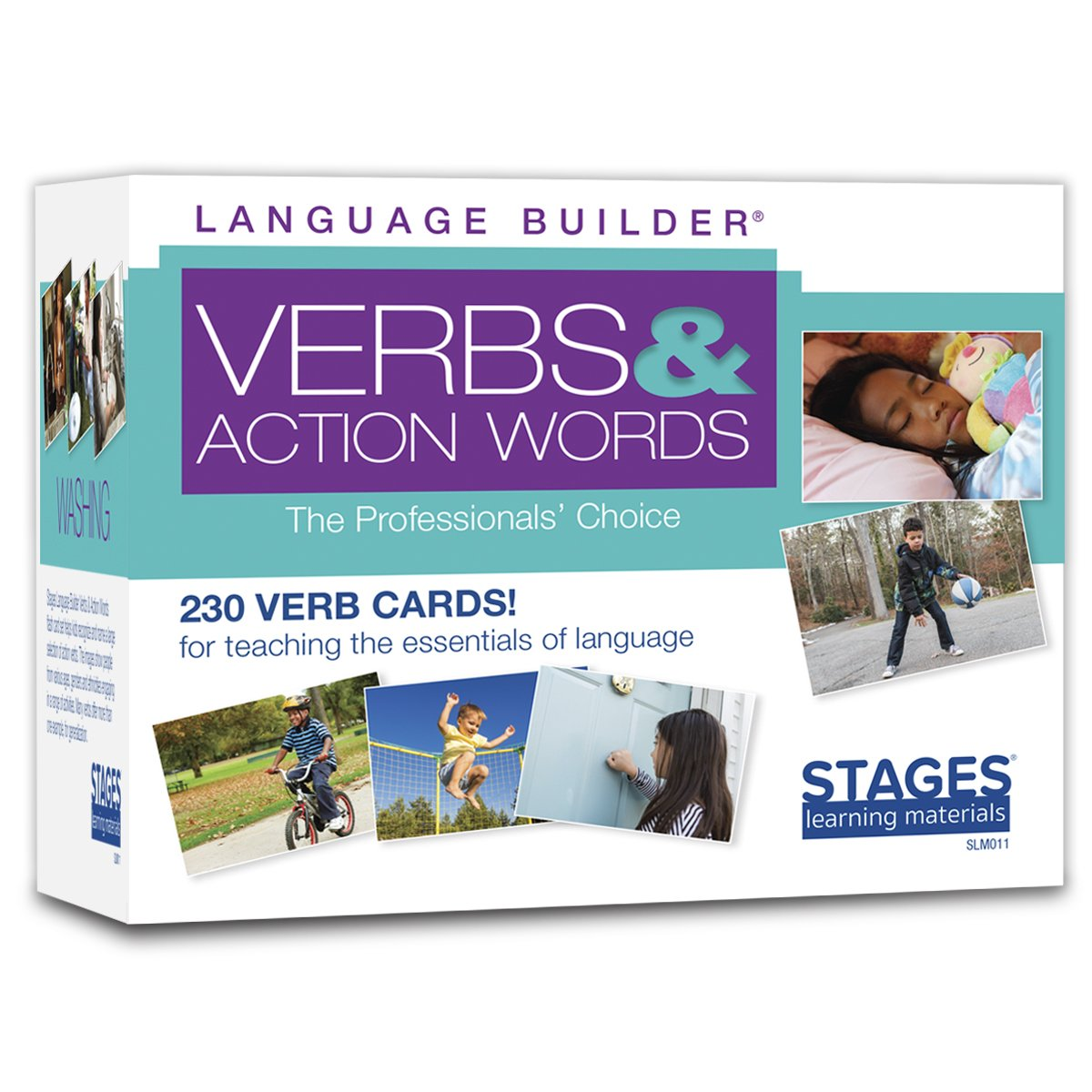 Stages Learning Materials Language Builder Verb Flash Cards Photo Vocabulary Autism Learning Products for Aba Therapy & Speech Articulation