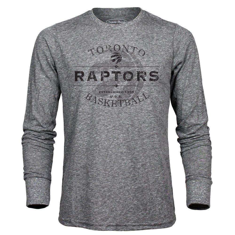 NBAメンズプレミアムTriblend Long Sleeve Tee B06Y66NTTJ XX-Large|ヘザーグレー|Toronto Raptors ヘザーグレー XX-Large