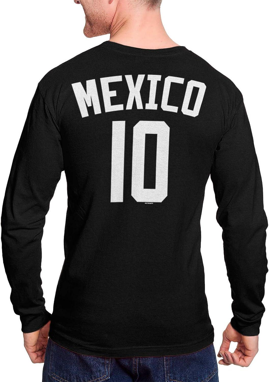 Futbol Mexican Pride  Juniors V-neck T-shirt Mexico Soccer Ball Flag