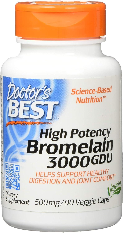 Mejores 3000 GDU bromelina, 500 mg, 90 Caps Veggie - El médico de ...