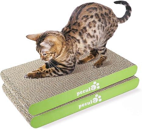 Pecute Rascador para Gatos con Catnip Alfombrillas de Carton Rascador de Gato de Repuesto 2 Piezas: Amazon.es: Productos para mascotas
