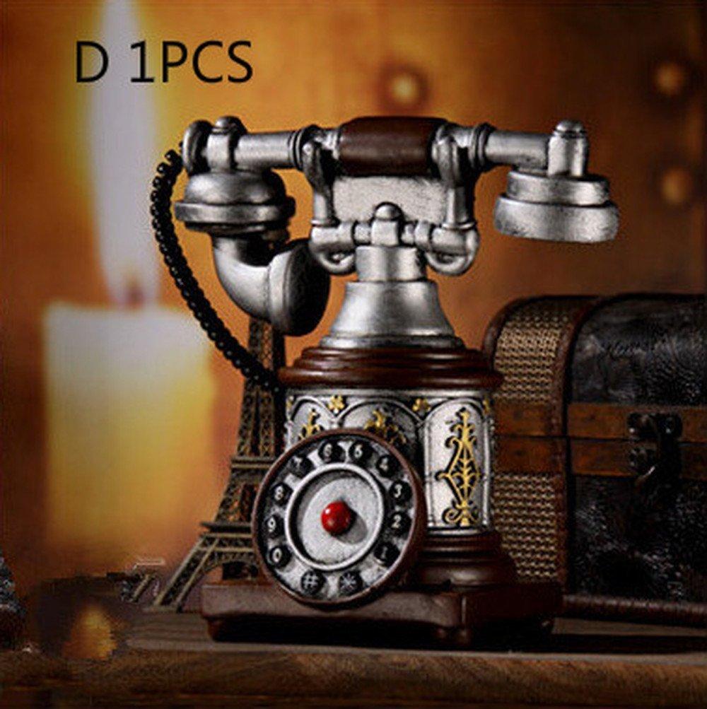 Bwlzsp 1 PCS Vintage telephone shop window coffee shop decoration accessories display props clothing shop window props LU716302 (Color : D 1PCS)