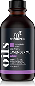 ArtNaturals 100% Pure Lavender Essential Oil - (4 Fl Oz / 120ml) - Premium Undiluted Therapeutic Grade Natural from Bulgaria - Aromatherapy for Diffuser, Sleep, Relaxation, Skin and Hair Growth