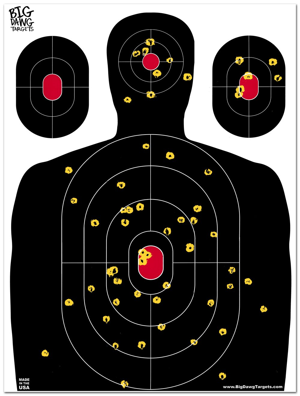 Big Dawg Targets - 18 X 24 Inch Silhouette Reactive Splatter Target - 10 Pack by Big Dawg Targets (Image #1)