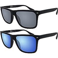 La Optica Original Verspiegelte UV400 Herren Sonnenbrille Eckig - Farben, Einzel-/Doppelpacks