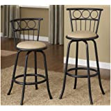Amazon Com Poundex Pdex F1432 Swivel Barstool With Unique