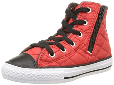 Converse All Star Hi Side Zip Tex - C2 -, Homme, Rouge (c.Red/Black Quilted), Taille 33