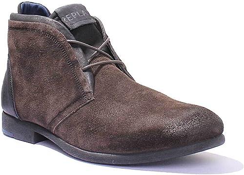 Replay Box Tan Mens Suede Chukka Boots