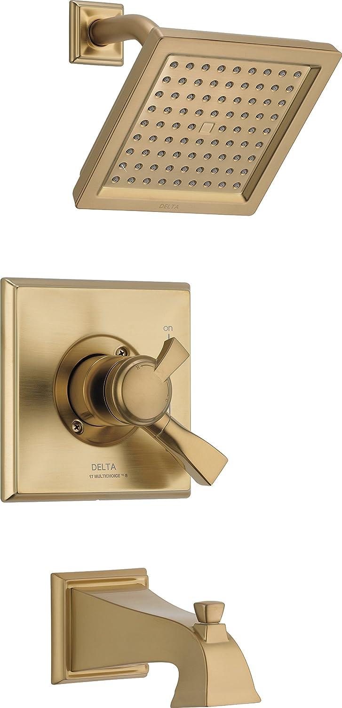 デルタ蛇口Drydenモニター17シリーズタブ&シャワートリム T17451-CZ-WE 1 Champagne Bronze Champagne Bronze B01MTFU8HV