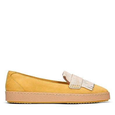 9de6f17ff643c7 Clarks Lillia Lottie Suede Shoes in Standard Fit Size 7½ Yellow ...