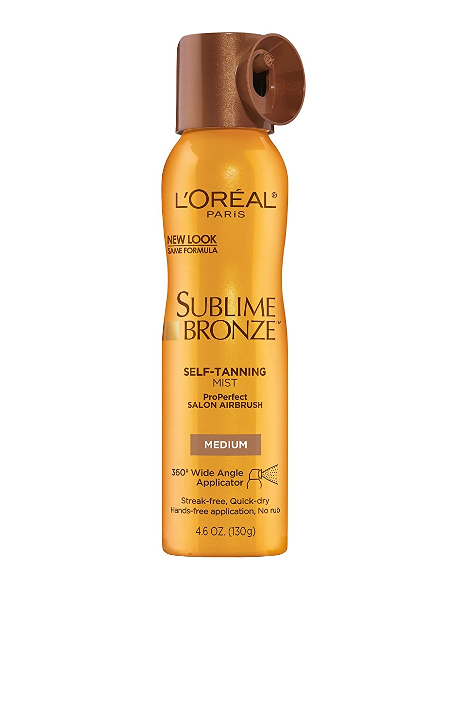 L'Oreal Sublime Bronze ProPerfect Salon Airbrush Self-Tanning Mist, Medium Natural Tan 4.6 oz (130 g L' Oreal K073-74