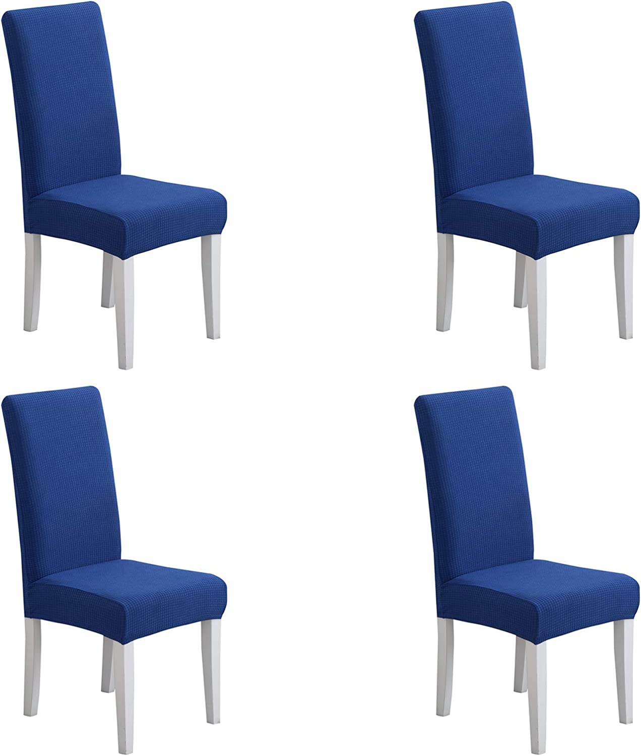 Pack of 4 - Dining Room Chair Slipcovers, Stretch Spandex Dining Chair Covers, Furniture Protector Covers Removable & Washable, Perfect for Dining Room, Restaurant, Hotel, Ceremony, Event Royal Blue