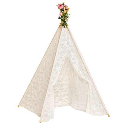 Amazon Com Ling S Moment 6 Giant Bohemian Chic Full Lace Teepee
